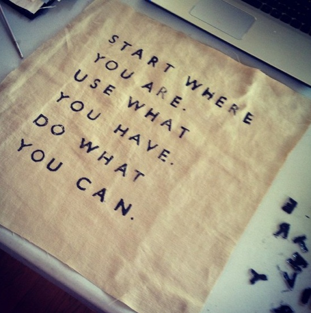 Start Where You Are...Yes, Yes, Very Logical