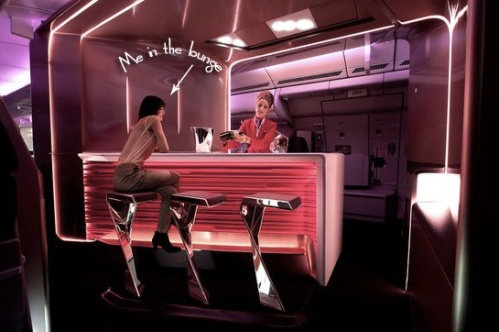 Virgin First Class Bar, Mmmm