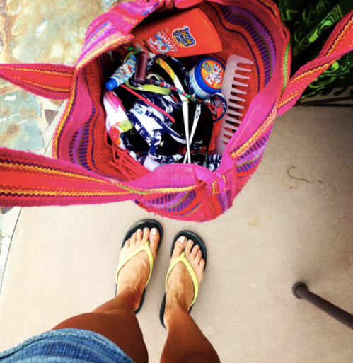 The Sign of a Good Beach Weekend...what's in your beach bag?