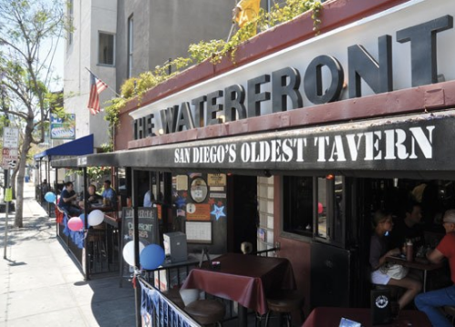The Waterfront…shots at noon anyone? (credit: SD Reader)