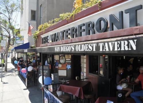 The Waterfront…shots at noon anyone? (credit: SD Reader)