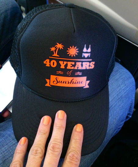 Custom truckers to mark the occasion…My girls know me well. The matching mani was not planned.