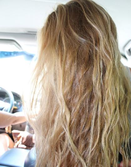 bright, shiny hair