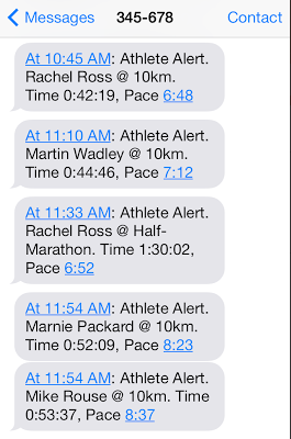 So cool to see your friends' progress throughout the race...