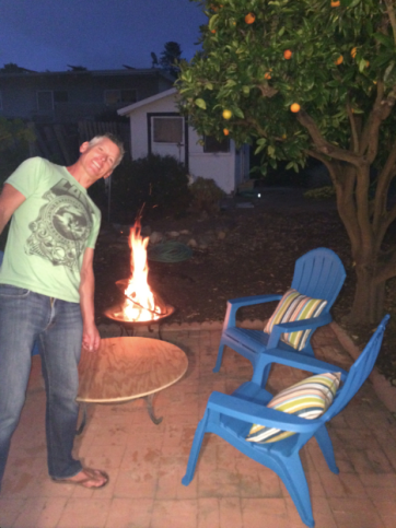 We light fires in new fire pit