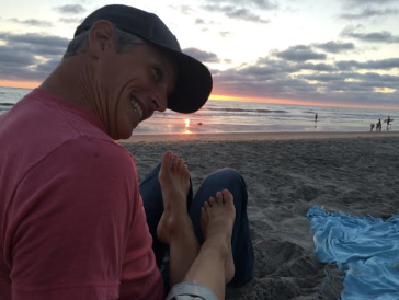 We watch sunsets at the beach