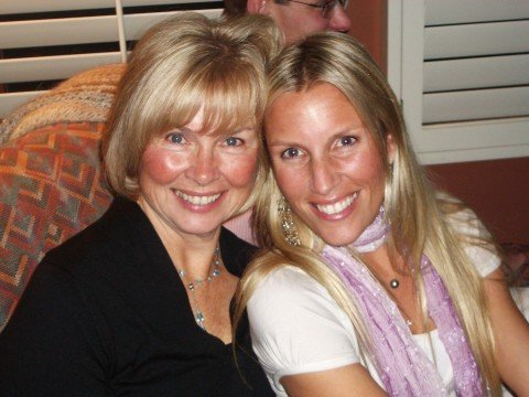 One of my favorite pics of my mom + I. Matching smile lines :)