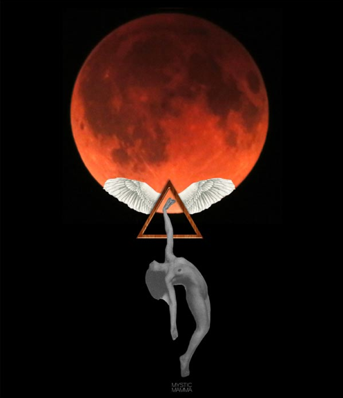 The super blood moon tonight at 7pm…photo by Mystic Mamma